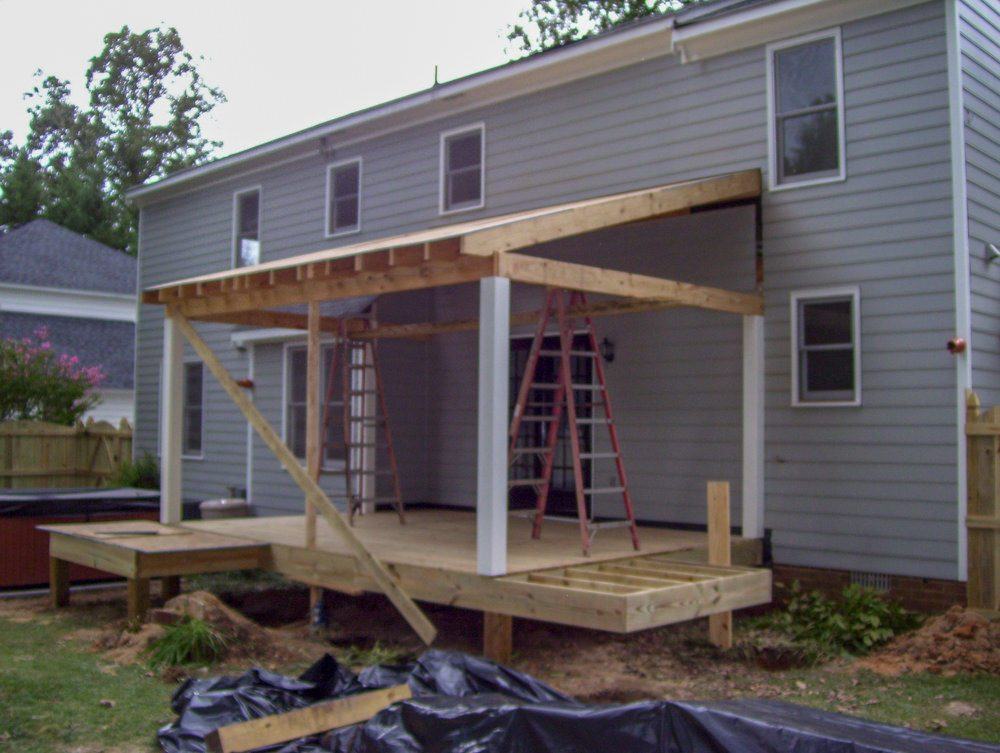 Progress Framing Photo Of Westend Screen Porch In Henrico