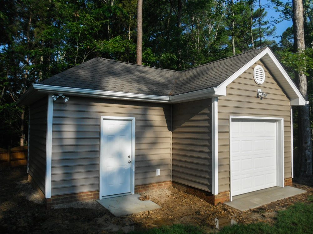 18 X 24 L Shaped Garage In Chesterfield Rbm Remodeling