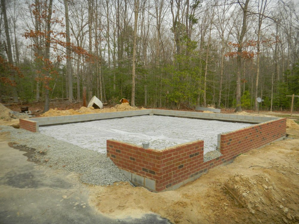 28 X 28 Garage Foundation In Chesterfield Co Is Ready For Slab To Be Installed Rbm Remodeling